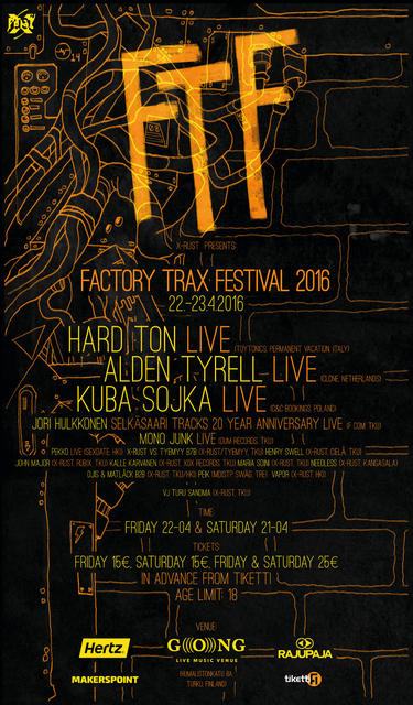 FACTORY TRAX FESTIVAL 2016 -poster