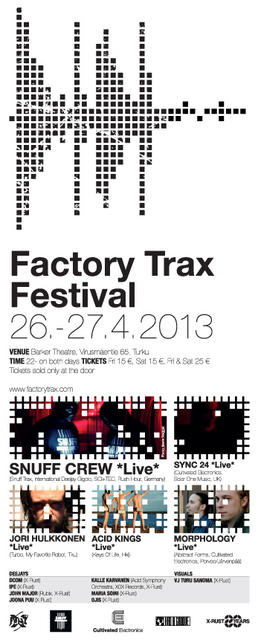 Factory Trax Festival 2013 - Poster