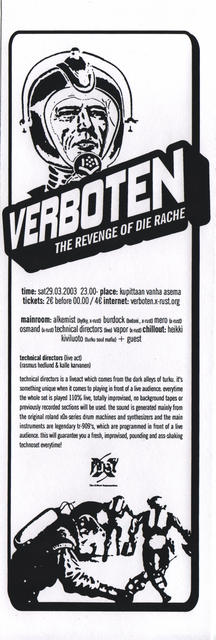 Verboten – The Revenge of Die Rache